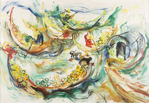 KUSAMA AFFANDI (1907-1990), The Floating Market in Bankgok